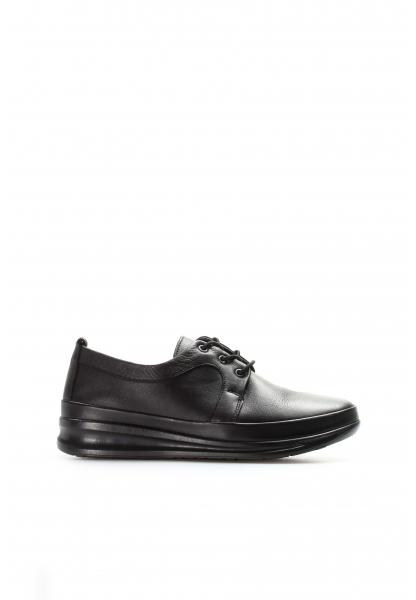 Ayakkabıhane İçi Dışı Kaliteli Hakiki Deri Siyah Kadın Casual Ayakkabı AH864ZA1203