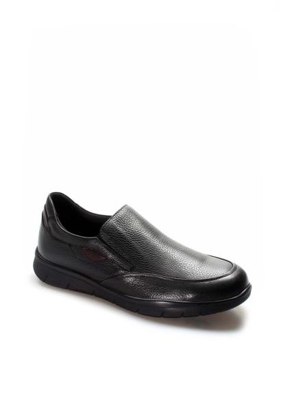 Ayakkabıhane İçi Dışı Kaliteli Hakiki Deri Siyah Erkek Casual Ayakkabı AH517MBA1002