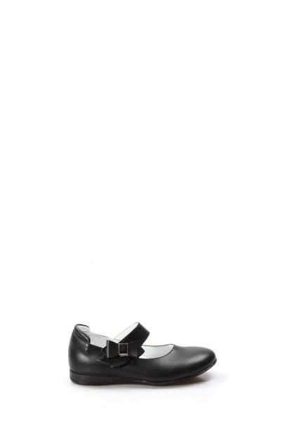 Ayakkabıhane Hakiki Deri Siyah Kız Çocuk Babet Ayakkabı AH837PA01
