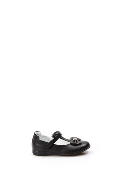 Ayakkabıhane Hakiki Deri Siyah Kız Çocuk Babet Ayakkabı AH837PA02