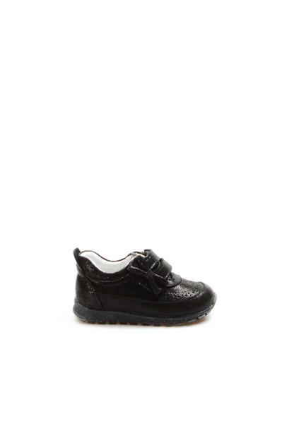 Ayakkabıhane Hakiki Deri Siyah Simli Kız Çocuk Sneaker Ayakkabı AH837BA03