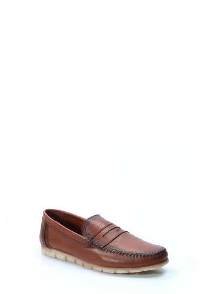 Ayakkabıhane İçi Dışı Hakiki Deri Taba Erkek Loafer Babet Ayakkabı AH783MA20