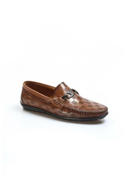 Ayakkabıhane İçi Dışı Hakiki Deri Taba Erkek Loafer Babet Ayakkabı AH819MA109