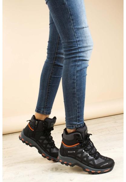Ayakkabıhane Siyah Füme Oranj Kadın Outdoor Bot AH865SZA6025