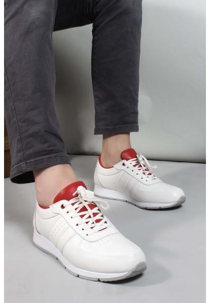 My Fiero Hakiki Deri Beyaz Erkek Casual Ayakkabı