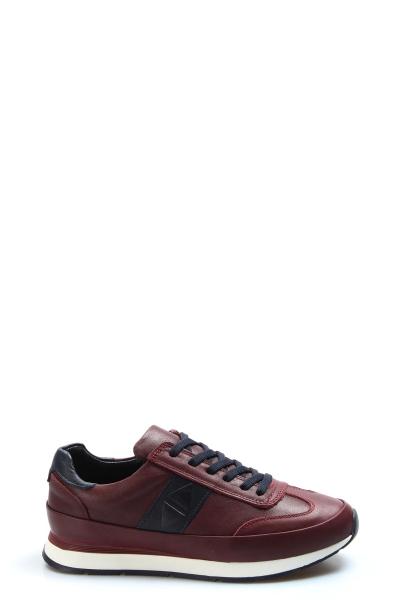 My Fiero Hakiki Deri Bordo Erkek Günlük Spor Ayakkabı