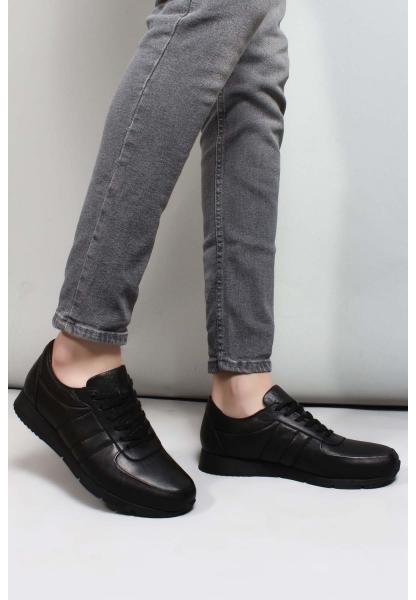 My Fiero Hakiki Deri Siyah Erkek Casual Ayakkabı