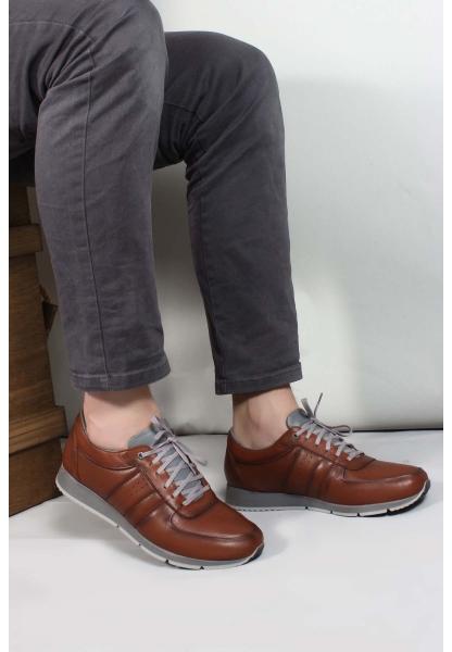 My Fiero Hakiki Deri Taba Erkek Casual Ayakkabı