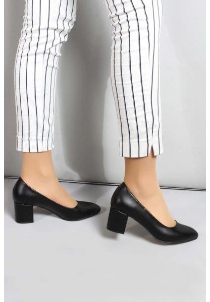 My Fiero Siyah Kadın Kalın Topuklu Ayakkabı
